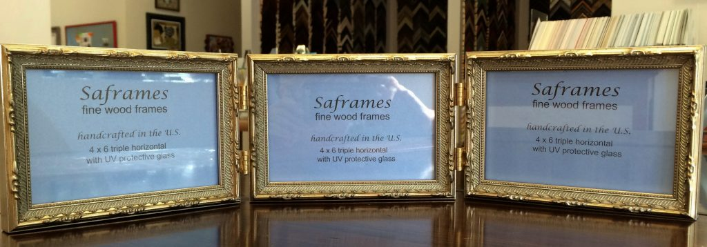 Triple Gold Photo Frame